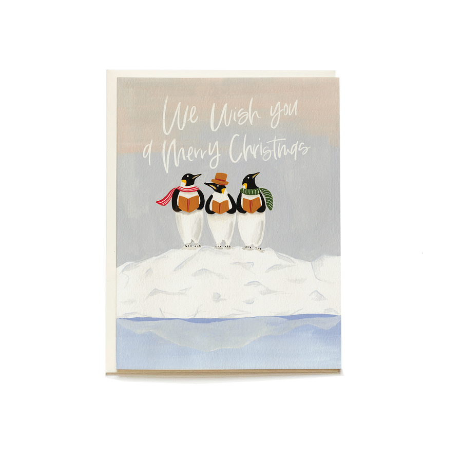 Penguin Carolers Card