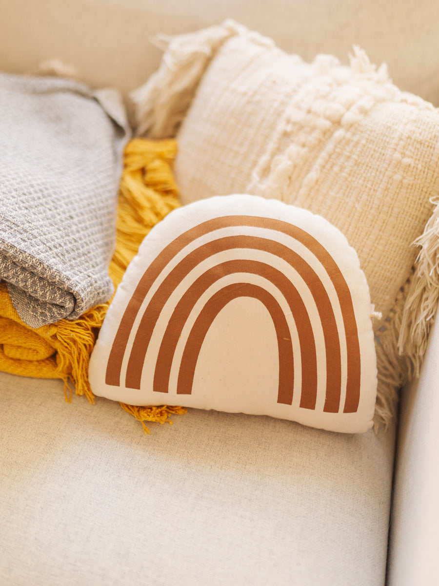 Rust Rainbow Pillow