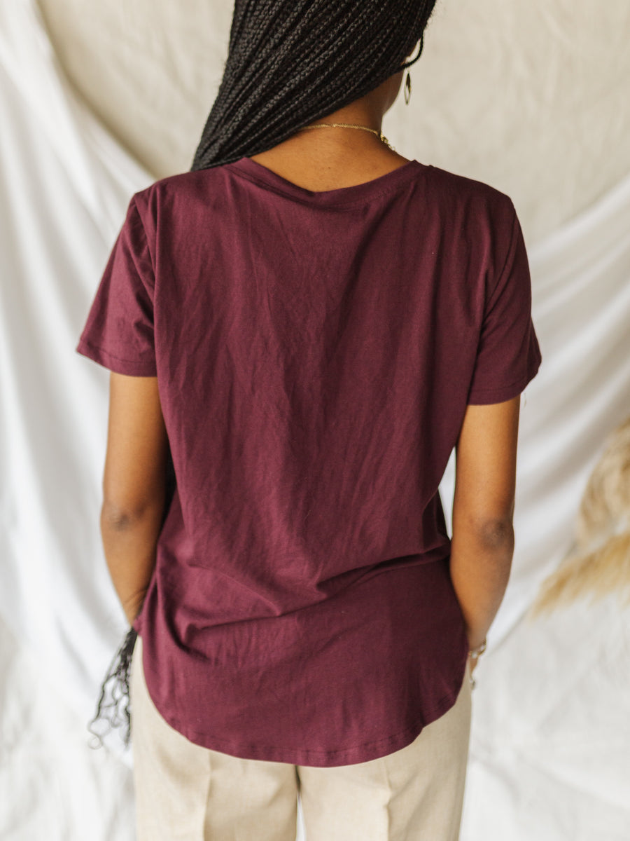 Rosewood V-Neck Tee
