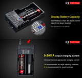 Chargeur Klarus K2 USB pour batteries Li-ion / IMR / Ni-Cd et LiFePO4