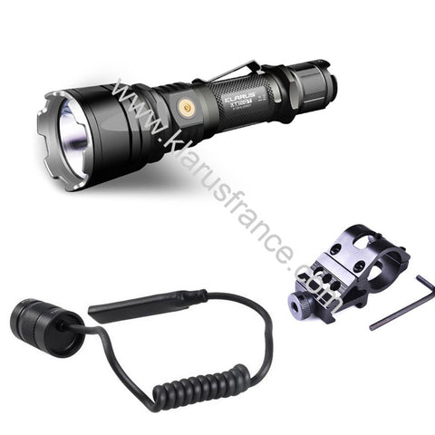 Kit airsoft lampe tactique rechargeable Klarus XT12GT 1600Lumens