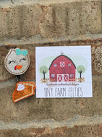 Turkey & Pumpkin Pie Double Badge Reel