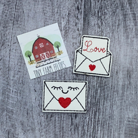 Love envelope Interchangeable Feltie Topper