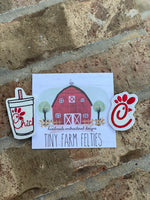 Chick-fil-a Logo &/or Cup Interchangeable Feltie (Topper Only)