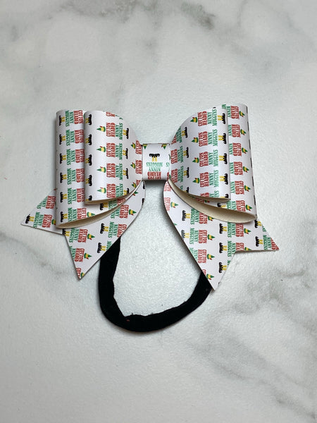 Cotton Headed Ninny Muggin Vinyl bow headband