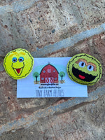 Big Bird and Oscar the Grouch Interchangeable Felties (Topper Only)
