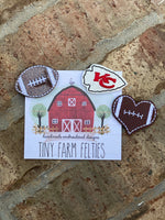Football Collection Interchangeable Felties (Topper Only)
