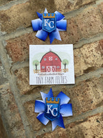KC Royals Bow Set