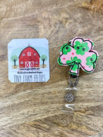 Shamrock Faces Interchangeable Badge Reel Topper only