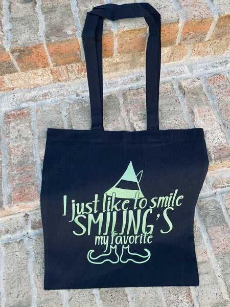 Canvas I like smiling canvas tote bag