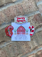 Santa's Favorite & Candy Cane Interchangeable Feltie (Topper Only)