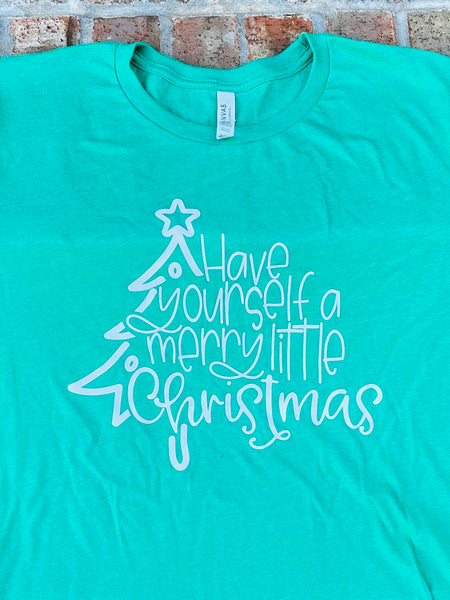 Merry little Christmas short sleeved tshirt
