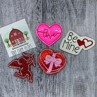 Be Mine Interchangeable Feltie Topper