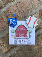 Royals &/or Baseball Interchangeable Felties (Topper Only)