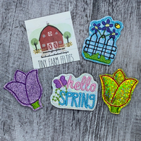 Hello Spring Interchangeable Feltie Topper