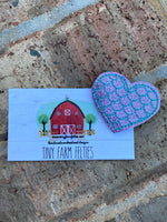 Mermaid scale Heart Interchangeable Feltie (Topper Only)
