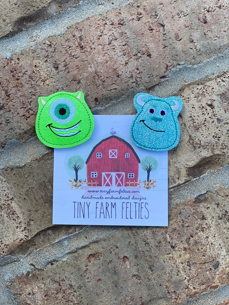 Mike & Sully Interchangeable Feltie (Topper Only)