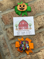 Jack-O-Lantern & Trick or Treat Bow Set