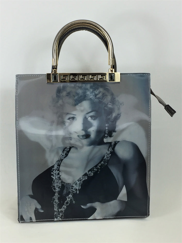 Marilyn Monroe bag with Long strap Zipped pocket on the back