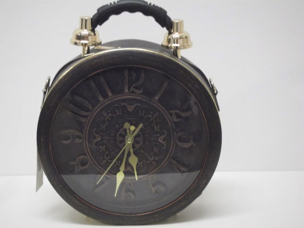 Large Round Working Clock Bag With Carry Handle And Strap