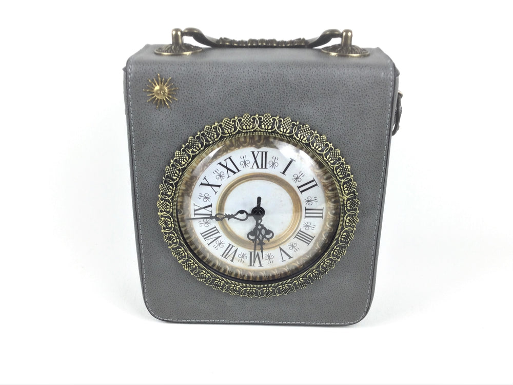 Rectangular Real Working Clock Bag