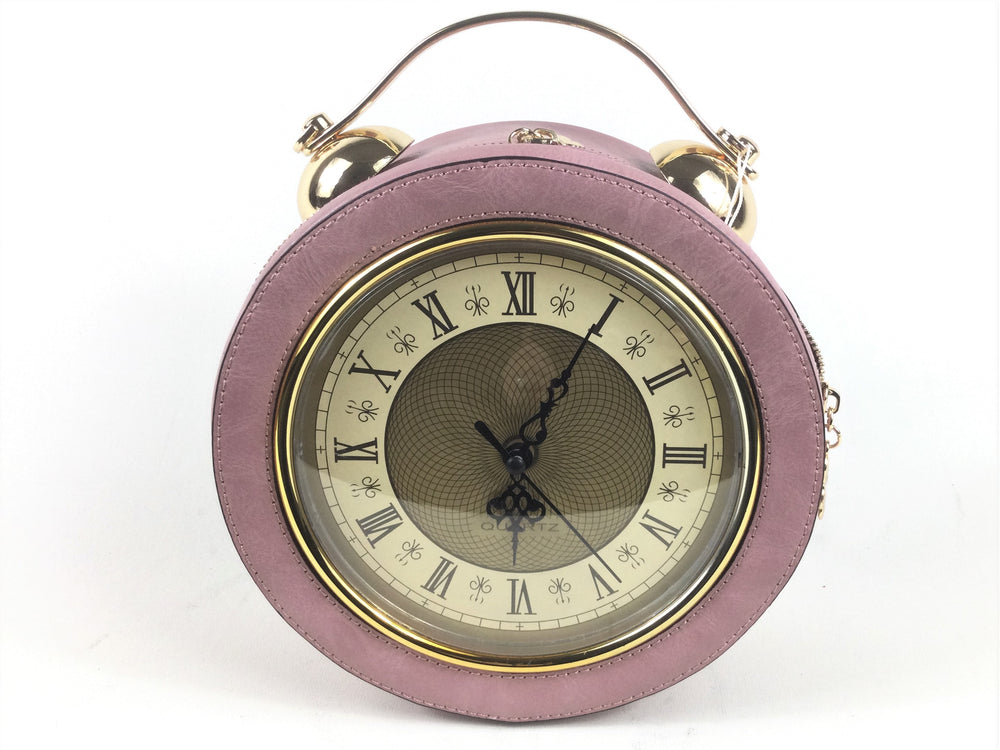 Working Round Vintage Clock Handbag with Long strap