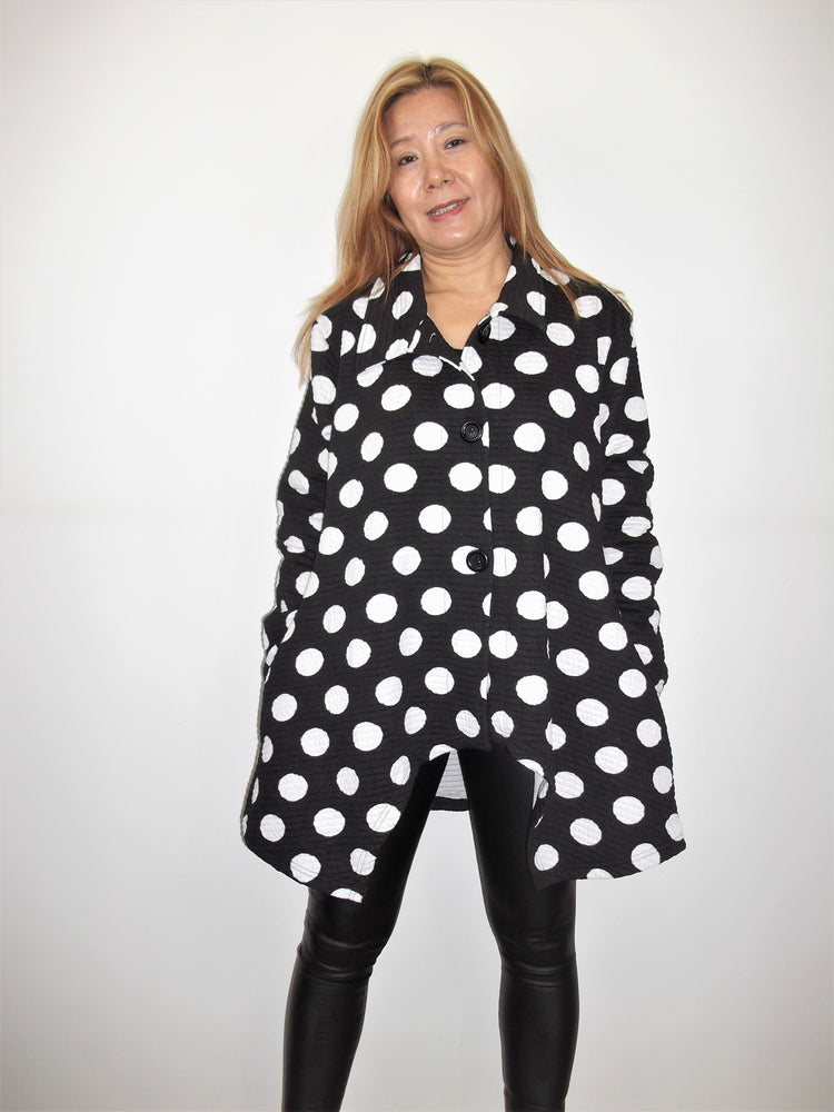 Long Sleeve Jacket With Button Fastening