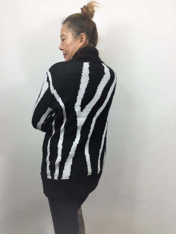 Long Polar Neck Sweater