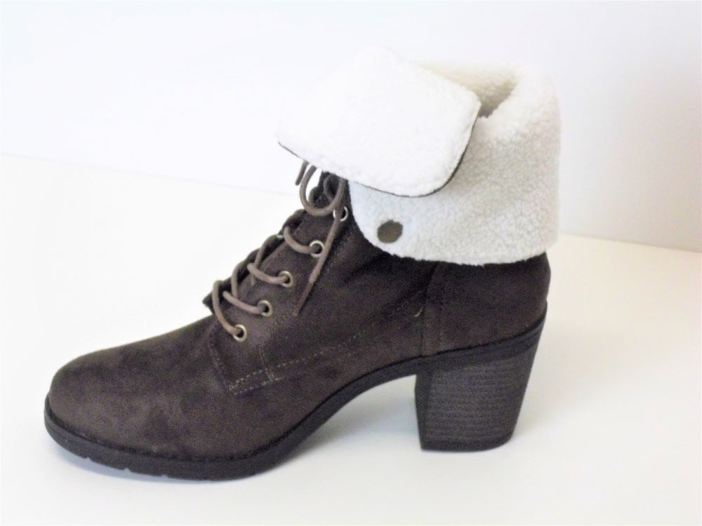Coffee colour Suede Ankle Boot Lace up
