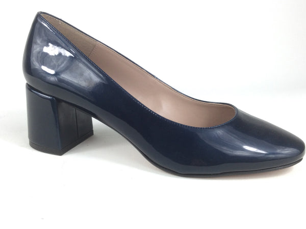 Navy Court Shoe