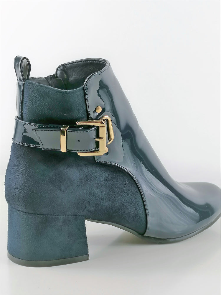 Navy Blue Ankle Boot