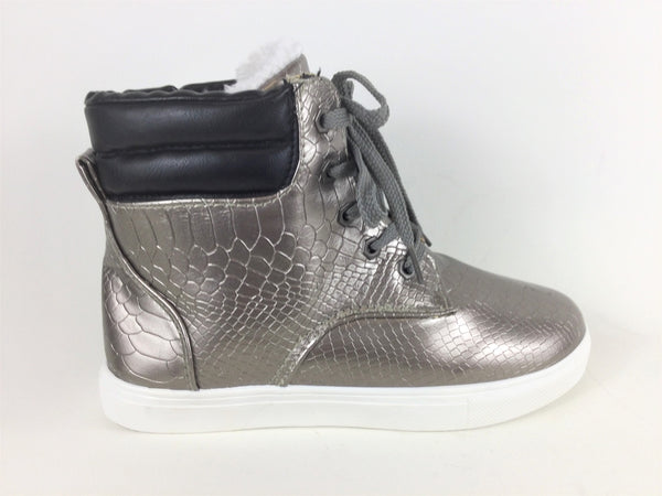 Silver Ankle Boot