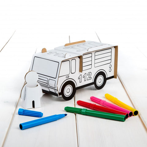 Cardboard Fire Engine Set