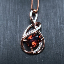 Load image into Gallery viewer, Rose Gold Colar Red Garnet Necklace