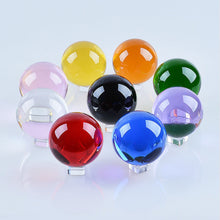 Load image into Gallery viewer, 50mm Quartz Crystal Ball Crystal Stand