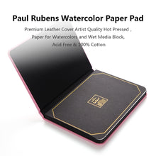 Load image into Gallery viewer, Paul Rubens Leather Cover Watercolor Book