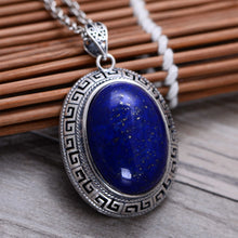 Load image into Gallery viewer, Vintage Natural Lapis Lazuli Pendant