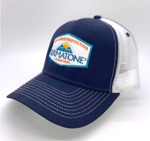 Load image into Gallery viewer, Frostbite Trucker Hat - Navy/White