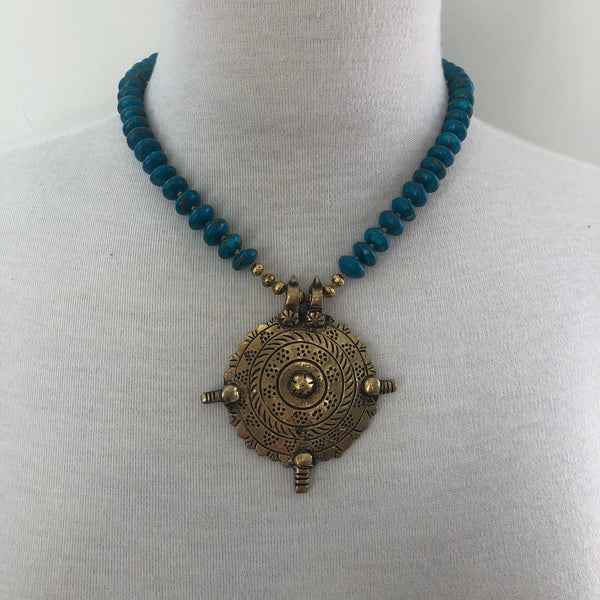 Brass Medallion Necklace
