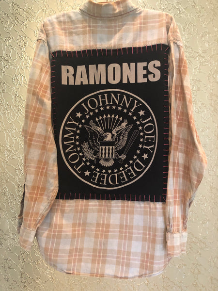 Ramones Upcycled Flannel