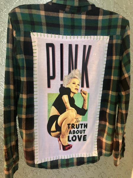 Pink Upcycled Flannel