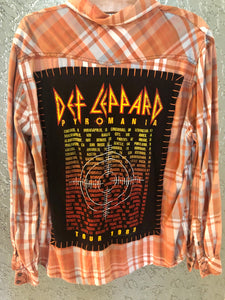 Def Leppard Upcycled Flannel