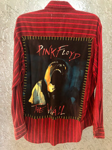 Pink Floyd Upcycled Flannel