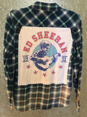 Ed Sheeran Upcycled Flannel