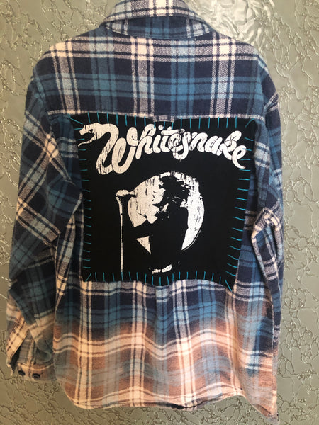 Whitesnake Upcycled Kid's Flannel
