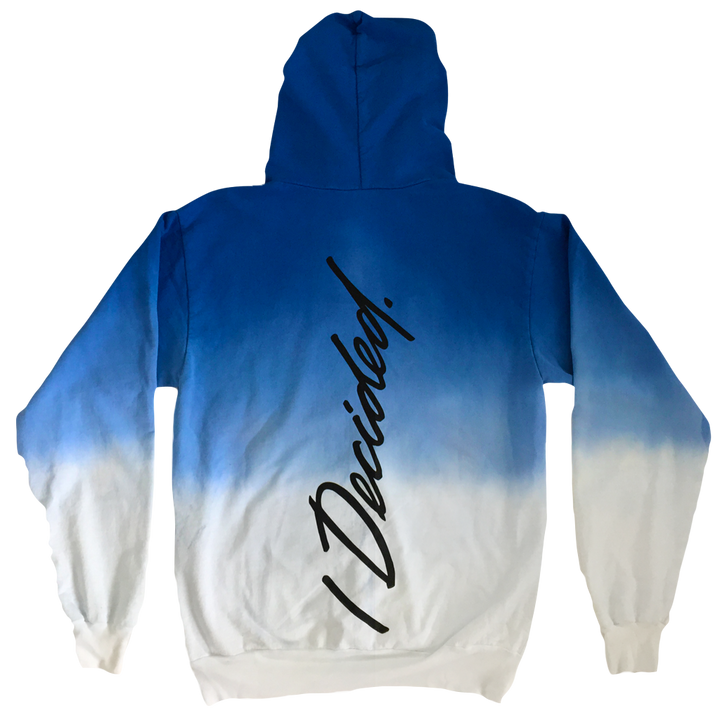 Big Sean I Decided Dip Dye Blue Hoodie