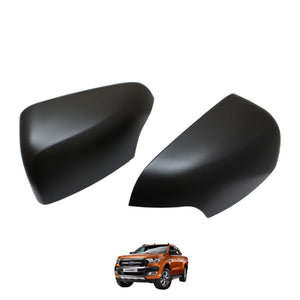 MATTE BLACK Mirror Covers for Ford Ranger T6 2016+ (Limited & Wildtrak models)