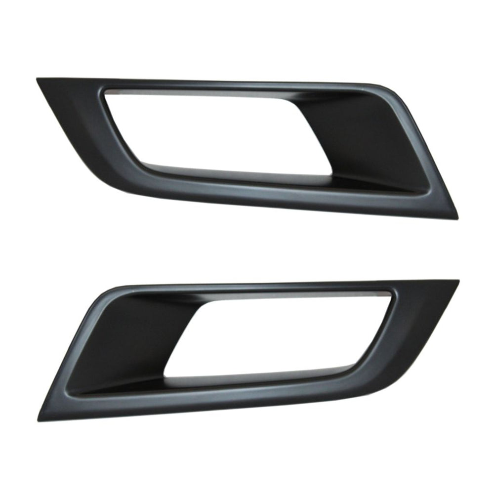 MATTE BLACK Fog Light Cover Trims for Ford Ranger T6 2016+ (WildTrak)