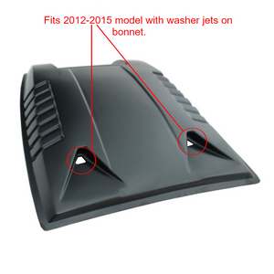 MATTE BLACK Bonnet Scoop with Washer Holes for Ford Ranger T6 Raptor 2012-2015