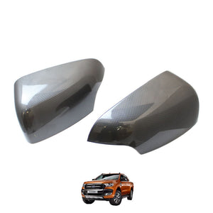 CARBON Mirror Covers for Ford Ranger T6 2016+ (Limited & Wildtrak models)